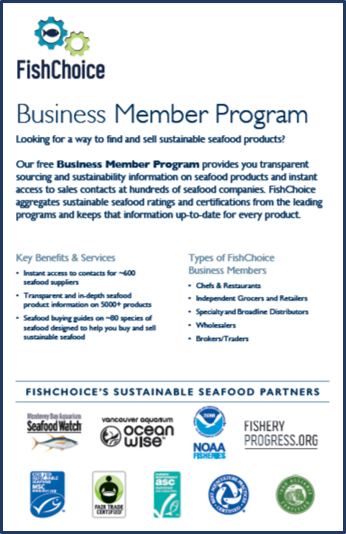 FishChoice Business Member Flyer